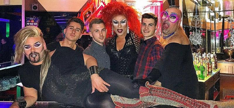 Black and white gay bar Madrid